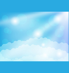 Clouds and sun rays vector