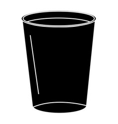 Coffee in plastic cup vector