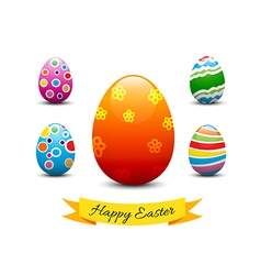 Collection of easter egg vector image