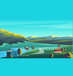 Colorful panorama eco vector