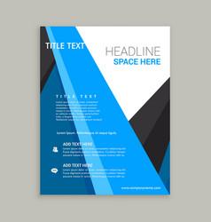 Company business brochure flyer leaflet design vector