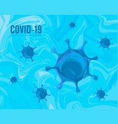 Coronavirus covid19-2019 on a blue background 2020 vector