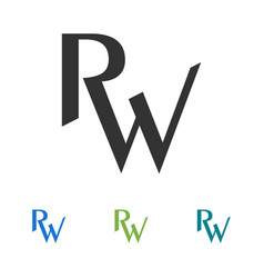 Creative letter rw logo design vector