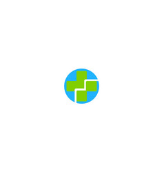 cross health hospital company logo vector image