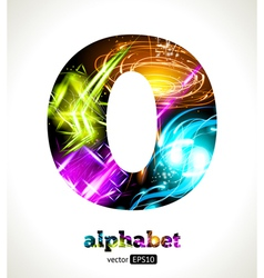 Design Abstract Letter O vector image