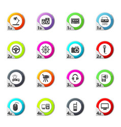 Devices icons set vector