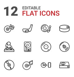 disc icons vector image