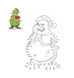 Dot to christmas game number puzzle vector