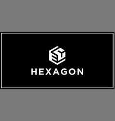 ec hexagon logo design inspiration vector image