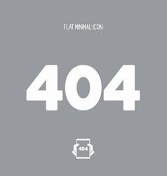 Error 404 concept - minimal icon vector