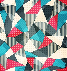 Fabric pieces seamless pattern vector
