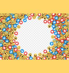 Flat modern emoji conceptual background vector