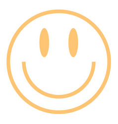 Flat smiling face happy smiley vector