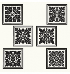 Floral tiles vector