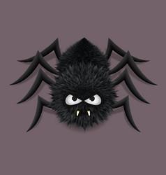 Fluffy spider vector