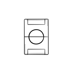 Football field hand drawn outline doodle icon vector