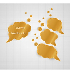 Give me feedback speech bubble with empty bubbles vector