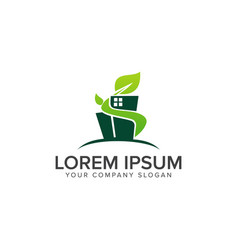 green building construction logo design concept vector image