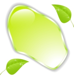 Green leaf with space for text EPS10 vector image