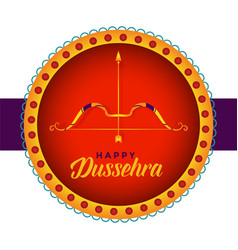 Happy dussehra hindu festival card design with vector
