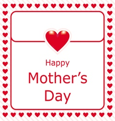 happy mothers day love letter with red heart vector image