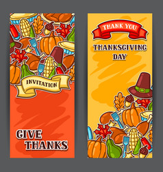 happy thanksgiving day banners with holiday vector image