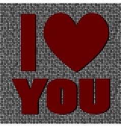 I love you Sequin Valentines Day vector image