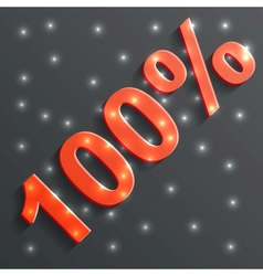 icon of the 100 vector image
