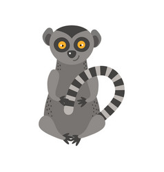 Lemur monkey rare animal vector