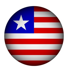Liberia flag button vector image