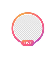 Live stream icon frame for photo vector