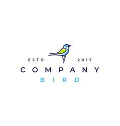 magpie bird logo design icon vector image