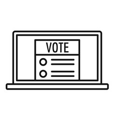 modern online vote icon outline style vector image