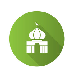 Mosque flat design long shadow glyph icon vector