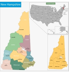 New Hampshire map vector