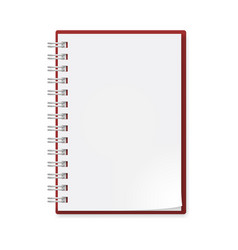 Notebook on white background for creative design vector