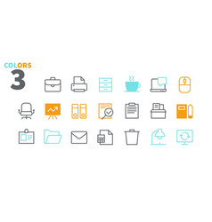 office outlined pixel perfect well-crafted vector image