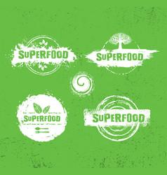 organic raw superfood design elements vector image