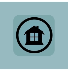 Pale blue house sign vector