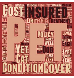 Pet Insurance have you got it text background vector image