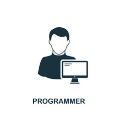 Programmer icon monochrome style design from vector