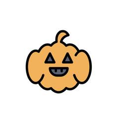Pumpkin american usa flat color icon icon banner vector