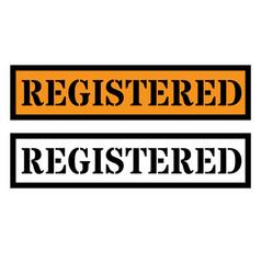 Registered sign label vector