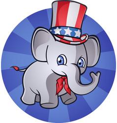 Republican elephant cartoon character vector