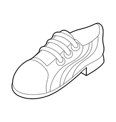 Running shoe icon outline style vector