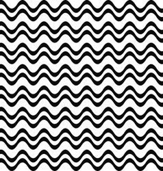 Seamless black and white wave pattern vector image