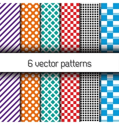 Set of 6 endless patterns vector