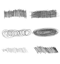 Set of doodle pencil strokes hand drawn vector