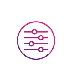 Slider bar icon linear vector