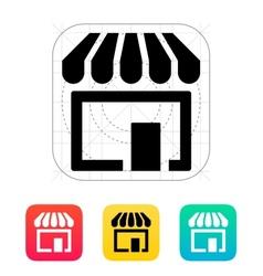 Store supermarket icon vector image